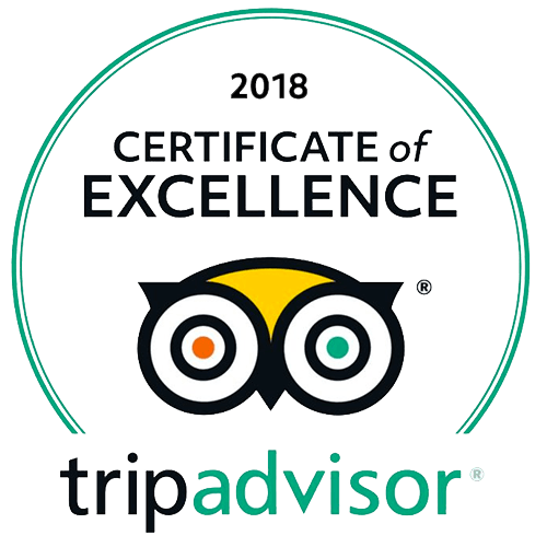 TripAdvisor the 2018 Certificate of Excellence!